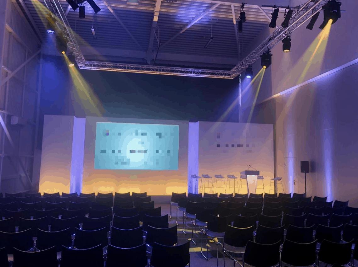 Conference Event Set Backdrop Hire