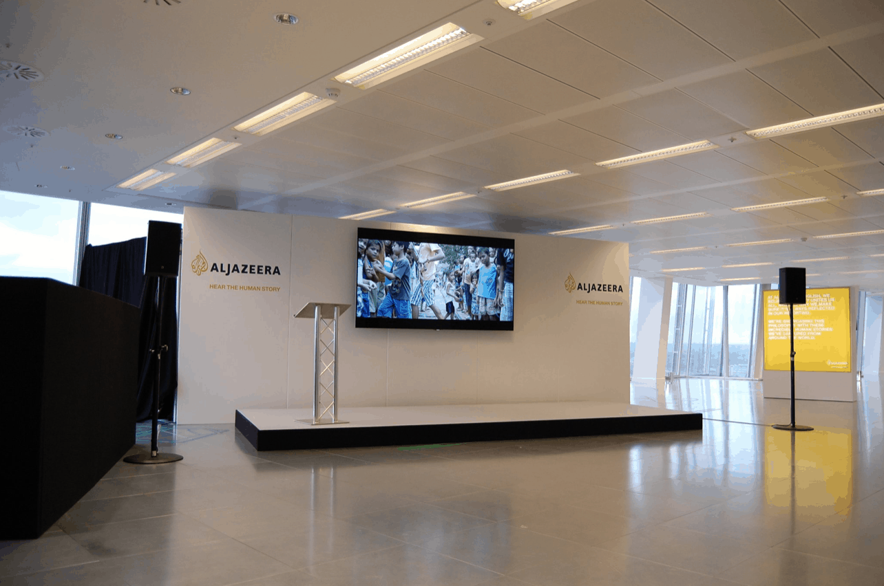 8ft set panel presentation backdrop hire