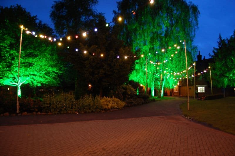 Outdoor Festoon Lighting Hire