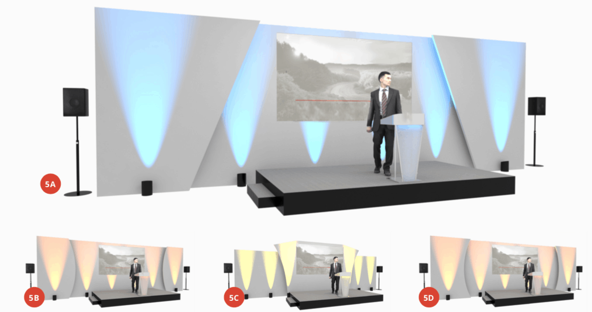 CAD 3D Visualisation for Conference or Awards Evening