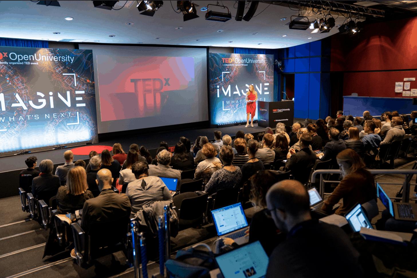 TEDx Open University stage