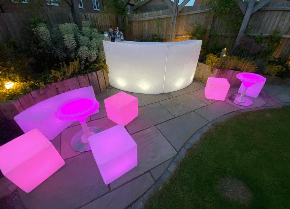 LED furniture pink
