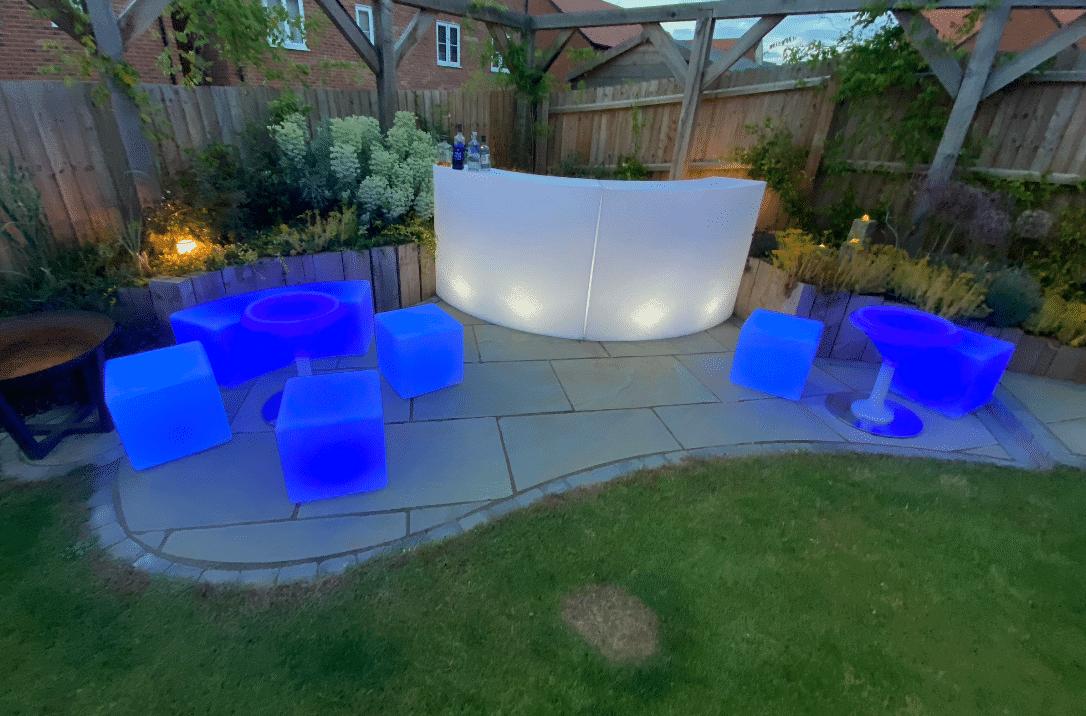 LED furniture blue