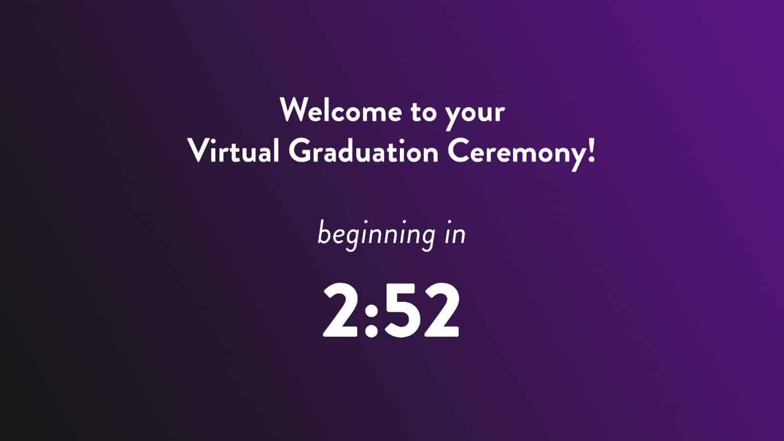 Virtual Graduation Countdown